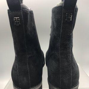 Tommy Hilfiger Shoes - Tommy Hilfiger Combat Black suede Boot Women's